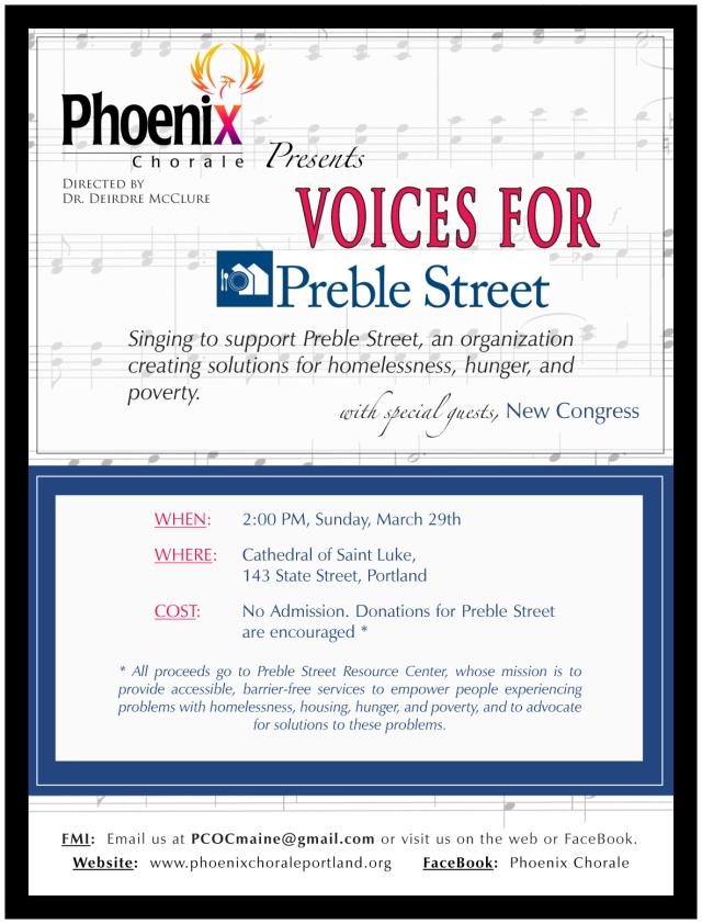 Preble Street Concert Poster