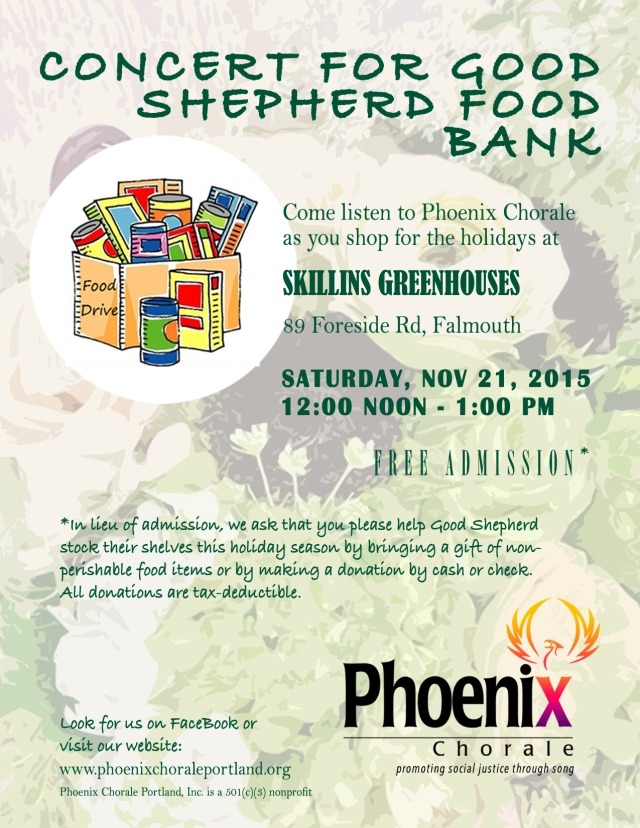 Concert for Good Shepherd Food Bank